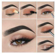 Natural Eye Makeup Step By Step, Eye Makeup Steps, Makeup Eye Looks, Eye Makeup Art, Smokey Eye Makeup, Makeup Tips, Natural Makeup, Eyeshadow Step By Step, Makeup Ideas