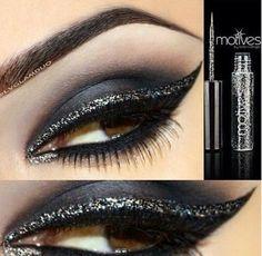 Black Glittery eyes... sexy