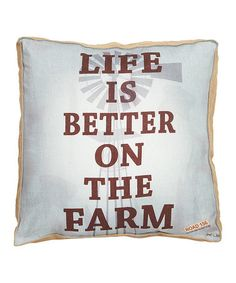 This 'Life Is Better' Pillow is perfect! #zulilyfinds