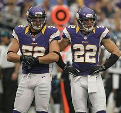 Chad Greenway and Harrison Smith