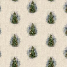 OI7e_4pA Cotton Linen, Printed Cotton, Fabric Christmas Trees, Christmas Elf, Natural Linen, Cushion Covers, Fabric Design, Blinds, Upholstery