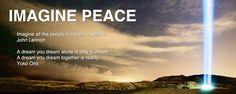 """""""Imagine todas as pessoas vivendo a vida em paz""""  """"imagine all the people living life in peace """"  John Lennon         #radiodapaz"""