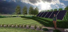 Projekt Ogrodu rezydencjonalnego- kolektory słoneczne