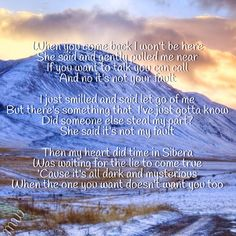 Siberia Never Gone Backstreet Boys Lyric Art 2005