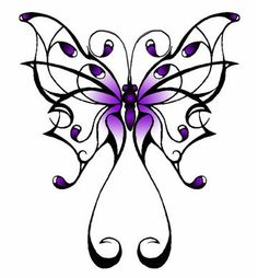 Butterfly tattoo pattern I used for the one on my neck.. just made a few slight changes to make my own.