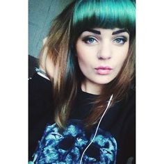 Love this colour in her fringe x