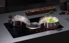 Bora Basic - Smart Cooking System with Cooktop Extractor Kitchen Hoods, Kitchen Tiles, Kitchen Decor, Kitchen Appliances, Kitchens, Kitchen Extractor Fan, Extractor Fans, Home Design Blogs, Kitchen Showroom