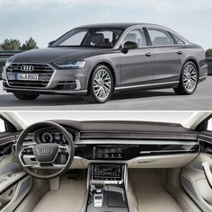 Audi A8L 2018: limusine super tecnológica Essa é a versão mais exclusiva do novo A8. O sedã de grande porte topo de linha da Audi entre os modelos executivos está num nível de quase direção 100% autônoma. O A8 é capaz de digirir sozinho em várias situações urbanas graças a 20 sensores ultrasônicos quatro câmeras de 360º uma câmera frontal no parabrisa quatro câmeras de canto um radar de longo alcance uma câmera de visão infravermelha e radar laser na dianteira! Em relação aos motores o carro