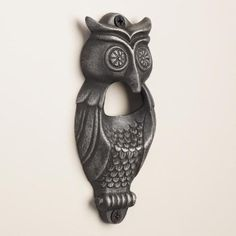 You'll never forget where your bottle opener is once you put our owl bottle opener on the wall. This whimsical find includes screws so you can have it at-the-ready when you want to enjoy soda and beer.