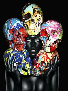 Photography by Rankin and Damien Hirst.