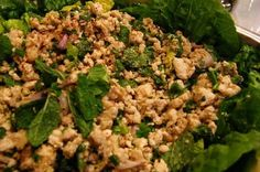 Laab Gai (Thai Chicken Salad with Ginger) - Member recipe - Taste.com.au