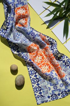 Patchwork Tile Silk Scarf - product images  of