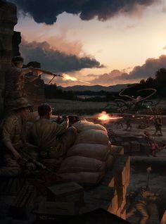 Война с Ктулху (Иллюстрации к книге) wraithdt, Лавкрафт, Ктулху, арт, длиннопост