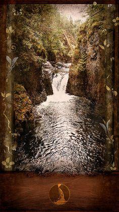 Englishman Falls, B. Vancouver Island, British Columbia, Waterfalls, Mystic, Canada, River, Nature, Painting, Spaces