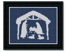 Nativity Scene; cross stitch pattern $4.50