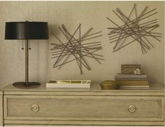 diy this wall decor kabob sticks glue an gold spray paint - Starburst Wall Decor