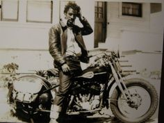 Early Black Biker-- lookin' rough & ready. Love his crazy hair, cool belt and rolled-up selvedge jeans