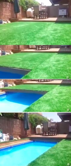 Exceptional Retractable Grass Covered Swimming Pool