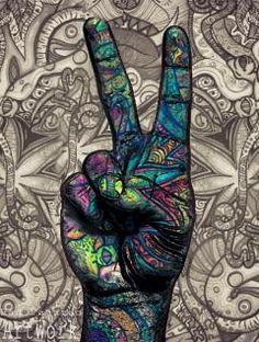 Groovy Peace Sign handcraft - Pesquisa Google