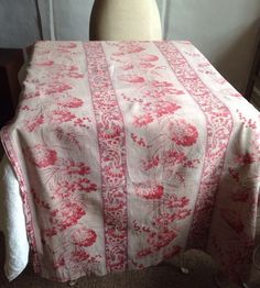 Vintage Tablecloth, Large Double Sheet, Grey Blue Dyed Cotton ...