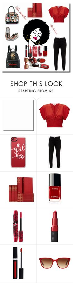 """""""The baddest"""" by exoduss ❤ liked on Polyvore featuring Miss Selfridge, Casetify, Ted Baker, Physicians Formula, Bobbi Brown Cosmetics, Christian Dior and RALPH"""