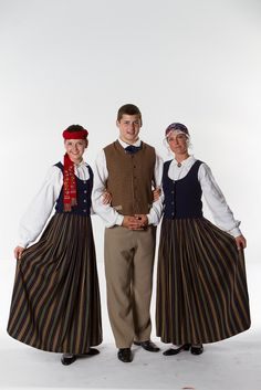 Latvia, 2013th. Song and Dance Festival. Latvian National Costumes. There are hundreds of different national costumes in Latvia, every region has its own.