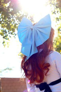 ARIEL the Little Mermaid. Kiss the Girl Large Blue HAIR BOW. Disney princess…