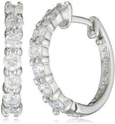 These classic sterling silver cubic zirconia hoop earrings are perfect for any special occasion. Ring Watch, Diamond Hoop Earrings, Jewelery, Nice Jewelry, Trendy Jewelry, Bling Bling, Baby Bling, Anklets, Sterling Silver
