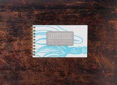 Bison Bookbinding and Letterpress Mini Sketch Book Mini Squid