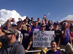 """Fanatic Fans: (picture of the UMHB-HSU game October 26) """"it takes true Cru to drive four hours to a game!"""" -Kathryn"""