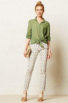 Labdip Lana Skinny Jeans #anthropologie Pineapple Print pants jeans