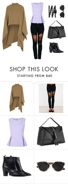 """""""London Love  Story"""" by annisamuahmuah on Polyvore featuring Madeleine Thompson, Machine, Diane Von Furstenberg, McQ by Alexander McQueen, Acne Studios, Christian Dior, Chanel, women's clothing, women and female"""