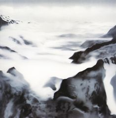 Gerhard Richter Alps (Atmosphere) 1969 200 cm x 200 cm  Oil on canvas