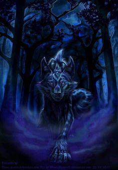 Wicked Wolf Artwork, Dragon Artwork, Cute Fantasy Creatures, Mythical Creatures Art, Fantasy Wolf, Dark Fantasy Art, Anime Wolf Drawing, Mystical Animals, Werewolf Art