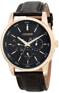 Citizen men watches : Citizen Men's BU2013-08E Dress Analog Display Japanese Quartz Brown Watch