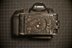 Check the pictures. 93-year-old lens hacked onto a Canon 5D Mark II.