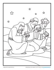bible coloring pages wise men - photo#11