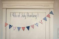 Freebie   Printable 4th of July Bunting · Scrapbooking   CraftGossip.com
