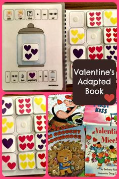 """Cupid, Cupid What Do You See?"" is the perfect adapted book for Valentine's day learning fun. Sarah the Speech Helper shows us how to set up the lesson to target color & number concepts then adjust difficulty. So great for the holiday! From theautismhelper.com"