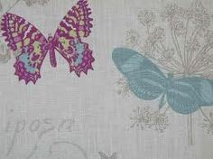 teal butterflies fabric - Google Search