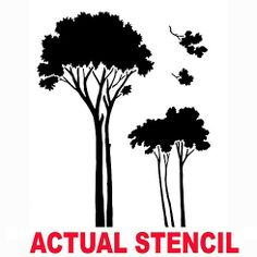 Deciduous Trees Stencil  See more: http://www.cuttingedgestencils.com/wall-stencils-mural-stencils.html