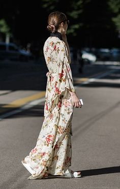 Flower Power / Street Style, Milan, Floral Dress / Garance Doré