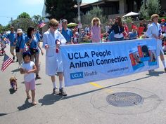 The UCLA People Animal Connection recently participated in the Pacific Palisades 4th of July parade!