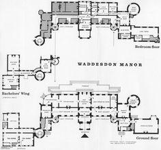 waddesdon manor floor plan - Google Search
