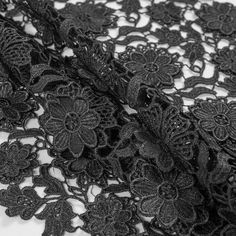 Mood presents a <strong>3D Floral Guipure Lace</strong> complete with couture qualities. An elegant fabric made up of 100% polyester, it is great for an array of fashion applications. Features an intricately woven 3-dimensional floral detail providing an intriguing and tantalizing texture. Completely sheer, it is an optimal choice to use for an overlay. Versatile and stylish, create chic lace blouses, classy pencil skirts and brilliant gowns from this one of a kind material.
