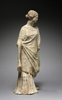 Figurine of Standing Woman, 200s BC Greece, 3rd Century BC terracotta
