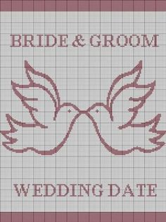 CROCHET PATTERN WEDDING DOVES BRIDE GROOM AFGHAN CROSS STITCH KNITTING GRAPH E-MAILED.PDF | crochetpatternsetc - Pattern