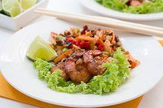 Krewetki w sosie tamaryndowym Cobb Salad, Food, Essen, Meals, Yemek, Eten