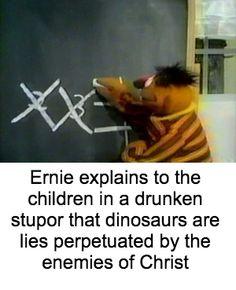"Sesame street humor ""I'm never sure how to please our Dark Lord. Dark Humour Memes, Dankest Memes, Elmo Memes, Stupid Funny Memes, Hilarious, Sesame Street Memes, Mau Humor, Rasengan Vs Chidori, Bert & Ernie"