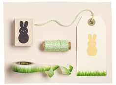 Spring into Paper Source for supplies to make your own Bunny Gift Tags!